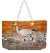 White Ibis Stroll Weekender Tote Bag