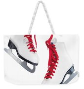 White Ice Skates With Red Laces Weekender Tote Bag