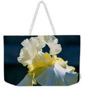 White Iris With Yellow Weekender Tote Bag