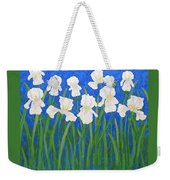 White Irises Weekender Tote Bag