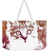 White Kitty Weekender Tote Bag