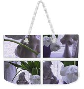 White Lace Picture Window Weekender Tote Bag