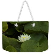 White Lilly Weekender Tote Bag