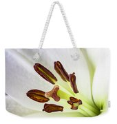 White Lily Close Up Weekender Tote Bag