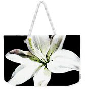 White Lily - Elegant Black And White Floral Art By Sharon Cummings Weekender Tote Bag by Sharon Cummings