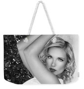 White Linen Bw Palm Springs Weekender Tote Bag