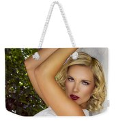 White Linen Palm Springs Weekender Tote Bag