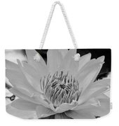 White Lotus 2 Bw Weekender Tote Bag