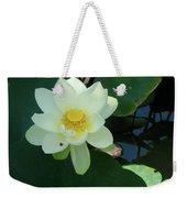 White Lotus I Weekender Tote Bag