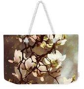 White Magnolias Weekender Tote Bag