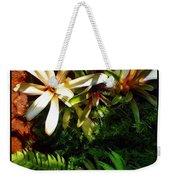 White Maui Flowers Weekender Tote Bag