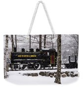 White Mountains Railroad And Train Weekender Tote Bag