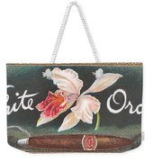 White Orchid Cigar Label Weekender Tote Bag