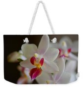 White Orchid Close Weekender Tote Bag