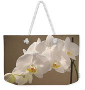 White Orchid Photograph Weekender Tote Bag