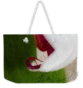 White Orchid Scratched Weekender Tote Bag
