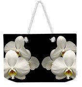 White Orchids Panorama Weekender Tote Bag