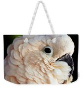 White Parrot Weekender Tote Bag