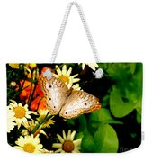 White Peacock Butterfly I I I Weekender Tote Bag