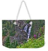 White Pearl Waterfall Vert Weekender Tote Bag
