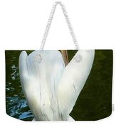 White Pelican Back Weekender Tote Bag