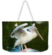 White Pelican Standing  Weekender Tote Bag