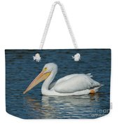 White Pelican Swimming Weekender Tote Bag