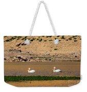 White Pelicans Weekender Tote Bag