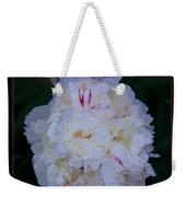 White Peony And Companion Abstract Flower Painting Weekender Tote Bag