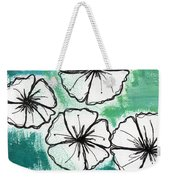 White Petunias- Floral Abstract Painting Weekender Tote Bag