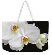 White Phalaenopsis Orchid Flowers Weekender Tote Bag