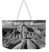 White Pocket Brain Rock Weekender Tote Bag by Jerry Fornarotto