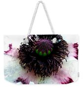 White Poppy Macro Weekender Tote Bag