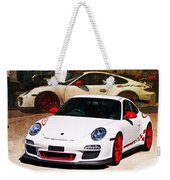 White Porsche Gt3rs Weekender Tote Bag