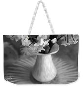 White Rays And Flowers Weekender Tote Bag