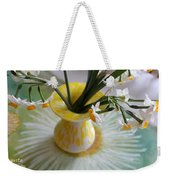 White Rays And Narcissus Weekender Tote Bag
