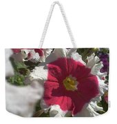 White-red Petunia Weekender Tote Bag