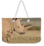 White Rhinoceros Kenya Weekender Tote Bag