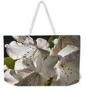 White Rhododendron B Weekender Tote Bag