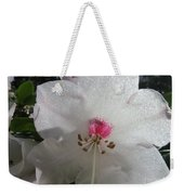 White Rhododendron Blossom Weekender Tote Bag