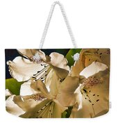 White Rhododendron Weekender Tote Bag
