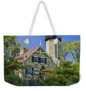 White River Lighthouse In Whitehall Michigan No.057 Weekender Tote Bag