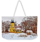 White River Winter Panoramic Weekender Tote Bag