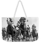 White River With Jockey Tommy Barrow Weekender Tote Bag