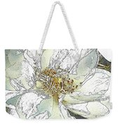White Rose Abstract Weekender Tote Bag