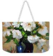 White Rose Elegance Weekender Tote Bag