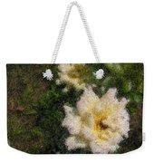 White Rose N My Backyard Weekender Tote Bag