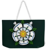 White Rose Of York Weekender Tote Bag