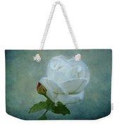 White Rose On Blue Weekender Tote Bag