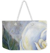 White Rose One Panel One Of Four Weekender Tote Bag